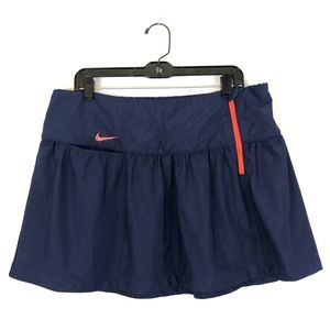 NIKE SPORT GOLF Skort DRI FIT DRY Navy Blue Orange